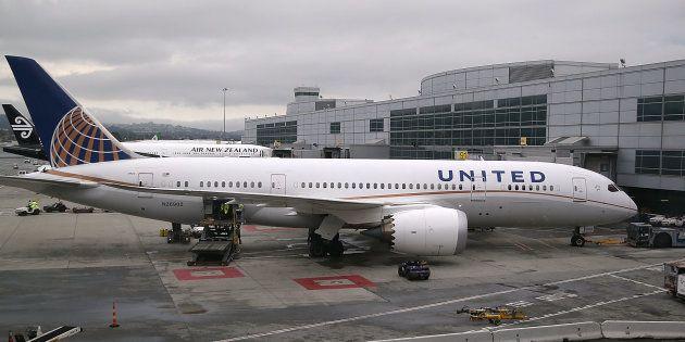 Un avion de United Airlines sur le tarmac de l'aéroport de San Francisco (Image