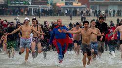 Malgré la vague de froid, 500 nageurs près de Dunkerque pour le
