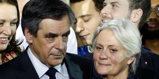 François Fillon et sa femme Penelope à Paris, le 29