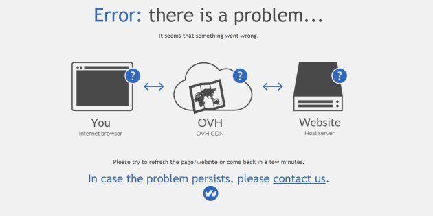 OVH en panne, des centaines de sites web