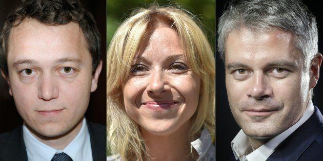Les trois candidats à la présidence des Républicains: Maël de Calan, Florence Portelli et Laurent