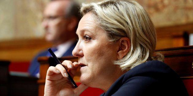 Marine Le Pen à l'Assemblée nationale au mois de