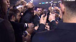Le toast au champagne du Racing 92 a bien fait rire les