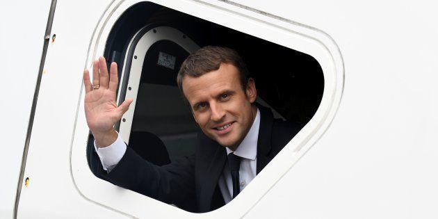 Le Président Emmanuel Macron lors de l'inauguration du nouveau TGV entre Paris et Rennes, le 1er juillet