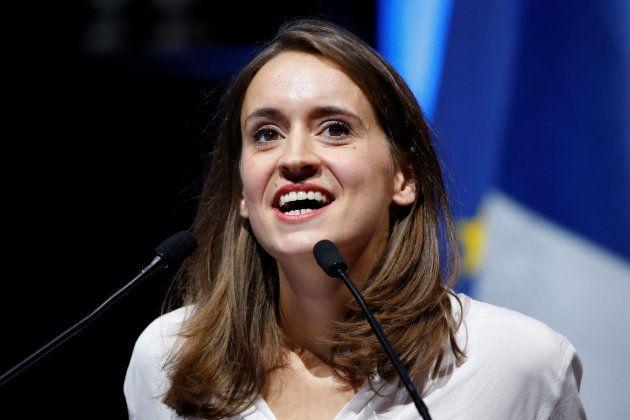 Madeleine de Jessey, lors d'un meeting à Paris, en septembre