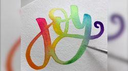 Regarder cette calligraphie à l'aquarelle a quelque chose de très