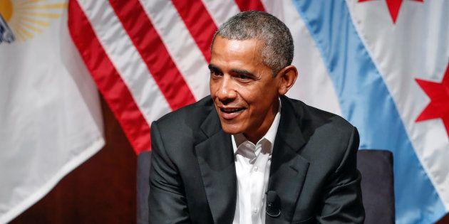 Barack Obama à Chicago le 24 avril