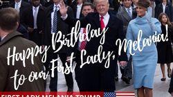 Il y a une erreur dans ce tweet d'anniversaire de Trump à sa