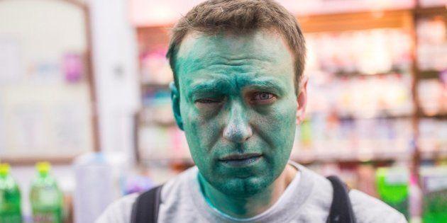 L'opposant russe Alexeï Navalny à nouveau aspergé de colorant