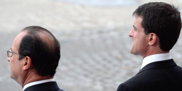 François Hollande et Manuel Valls, alors son premier