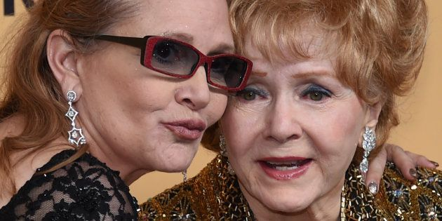 Carrie Fisher et Debbie Reynolds le 24 janvier 2015 à Los