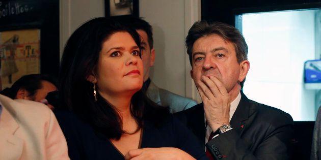 Raquel Garrido et Jean-Luc Mélenchon à Paris le 25 mai