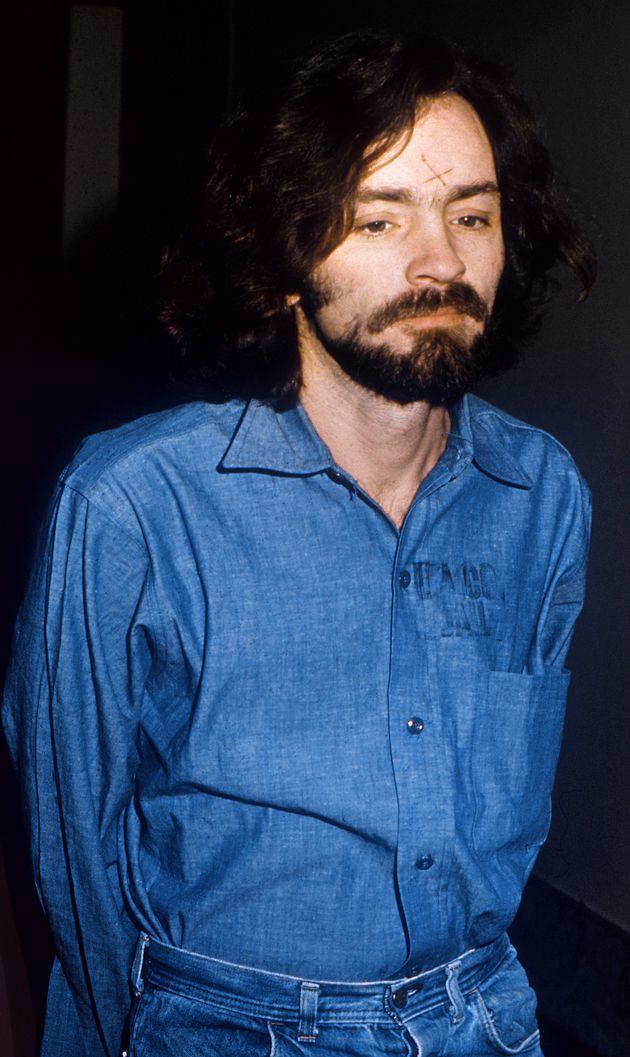 Charles Manson durant son procès à Los Angeles le 14 août