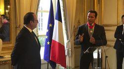 François Hollande a remis la Légion d'Honneur à Arnold