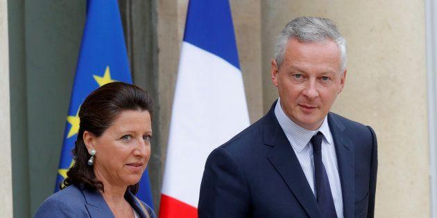 La ministre de la Santé Agnès Buzyn et le ministre de l'Economie Bruno Le