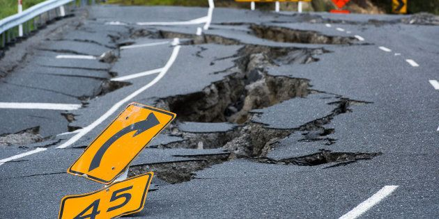 Tremblement de terre sur une autoroute néo-zélandaise dans le sud de
