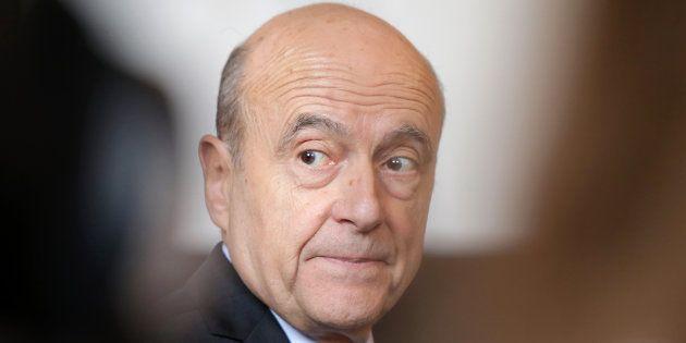 Alain Juppe en conférence de presse à Bordeaux le 6 mars.