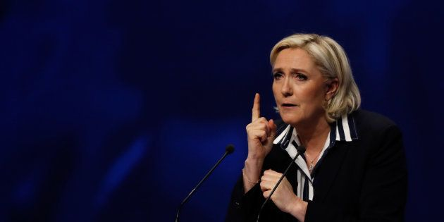 Marine Le Pen en meeting à Nice le 27
