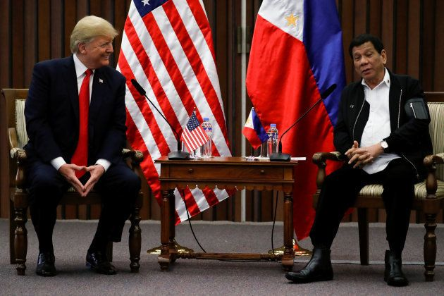 Donald Trump et Rodrigo Duterte, le 13
