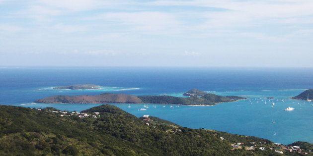 Une vue aérienne des Iles