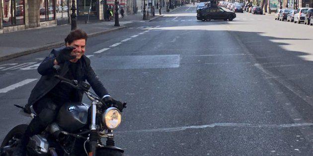 Comme souvent, Tom Cruise réalise lui-même ses propres