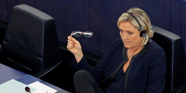 Marine Le Pen, au Parlement européen de Strasbourg au mois d'octobre 2016. REUTERS/Vincent