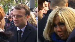 L'émotion du couple Macron devant le