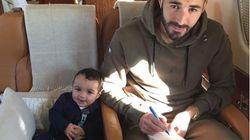 Karim Benzema présente son fils pour la première