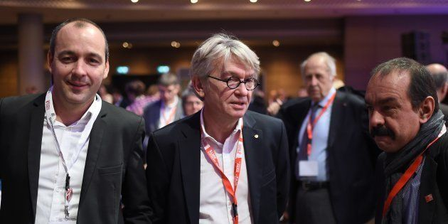 Laurent Berger (CFDT), Jean-Claude Mailly (FO) et Philippe Martinez
