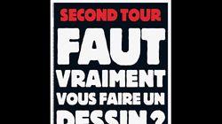 La une sans dessin mais très explicite de Charlie Hebdo avant le second tour de la