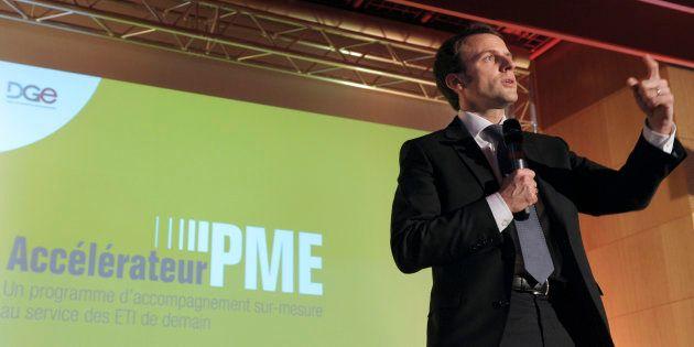 Emmanuel Macron, alors ministre de l'Economie, lors du lancement de