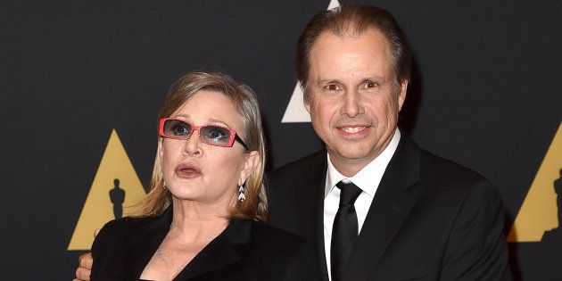 Carrie Fisher et son frère Todd aux Governors Awards d'Hollywood, le 14 novembre
