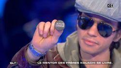 Farid Benyettou, l'ancien mentor des frères Kouachi, arbore un badge
