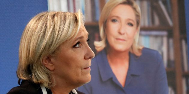 Marine Le Pen à Paris, le 2