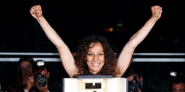 Houda Benyamina à Cannes le 22 mai
