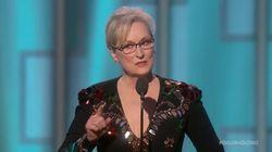 Meryl Streep a laissé tout le monde sans voix avec son discours aux Golden