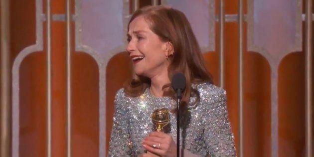 Isabelle Huppert remporte le Golden Globes de meilleure actrice film