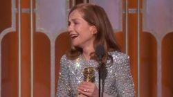 Isabelle Huppert très émue aux Golden Globes:
