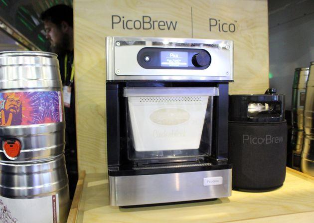La machine de PicoBrew sur le stand de l'entreprise à l'occasion du Consumer Electronics Show de