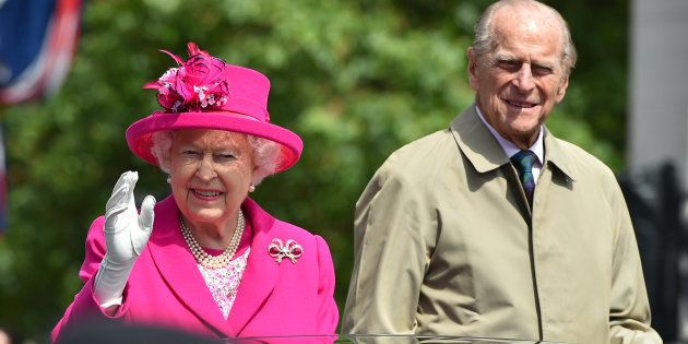 La Reine Elizabeth et son mari