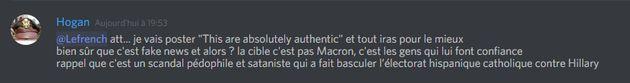 Voici l'itinéraire de la fake news que propage Marine Le Pen sur le pseudo-compte de Macron aux