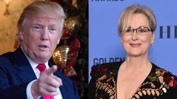 La réaction de Donald Trump au discours de Meryl Streep ne s'est pas fait