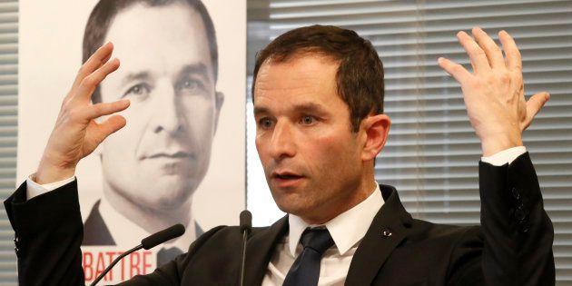 Benoît Hamon à son QG de campagne le 6 janvier 2017. REUTERS/Charles