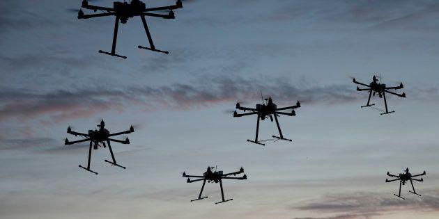 Les drones de l'essaim du Pentagone sont bien, bien plus