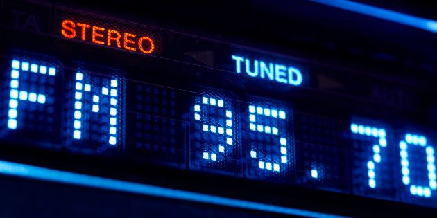 Écran d'affichage d'une radio FM bientôt obsolète en
