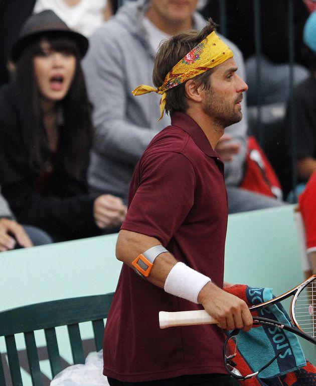 Nolwenn Leroy supporte son amoureux Arnaud Clément à Roland Garros en