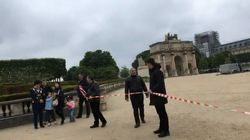 L'esplanade du Louvre évacuée pour