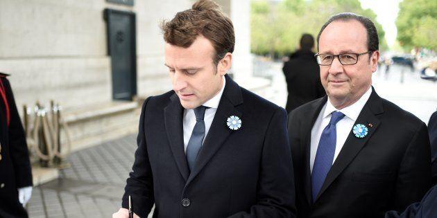 Emmanuel Macron et François Hollande au lendemain du second tour de