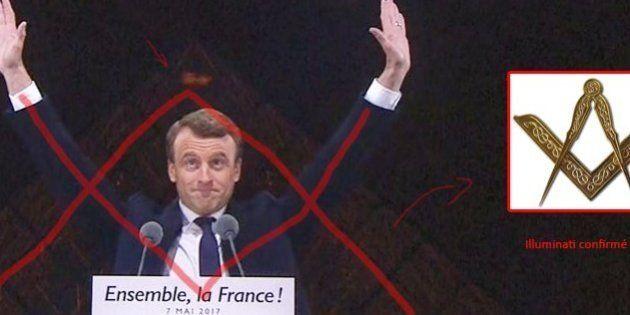 Après les résultats de l'élection présidentielle 2017, les complotistes  paniquent en voyant Macron devant la pyramide du Louvre | Le HuffPost