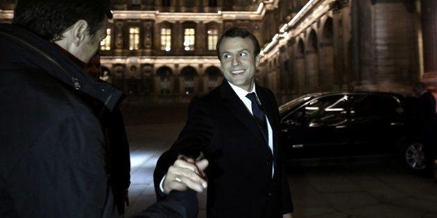 Emmanuel Macron lors de son arrivée au Louvre après le résultat de l'élection présidentielle 2017. REUTERS/Philippe